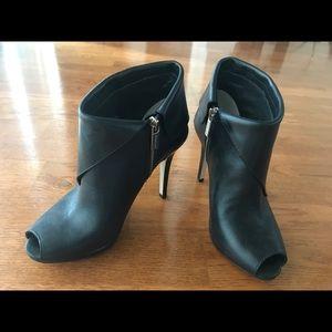 Michael Kors Black Peep Toe Bootie Size 5.5M